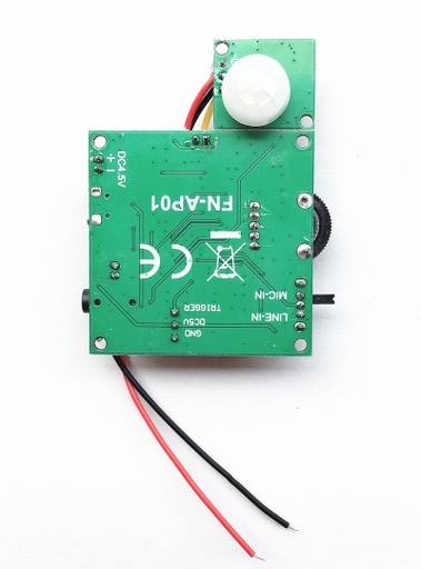 PIR Motion  Activated Audio Playback Module (Record Message with Line-in or Microphone)