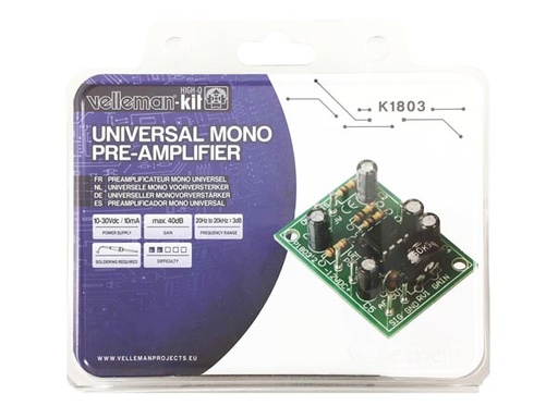 Universal Mono Pre-Amplifier (Kit)