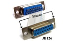 [JB126] Connector solder 'D' Type 15-way socket