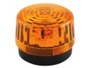[HAA100AN] LED Flashing Light - Amber - 12 VDC - 100 mm
