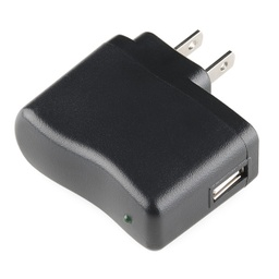 [TOL-11456] USB Wall Charger - 5V, 1A (Black)