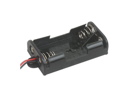 [JA-6099] 2x AA Battery Holder with Wires and Mounting Tabs
