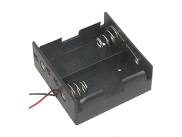 "[JA-6390] 2x D Battery Holder with 6"" Wires"