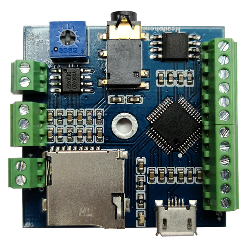 10 Buttons Triggered MP3 Player Board with 3W Amplifier and Terminal Block (v2)