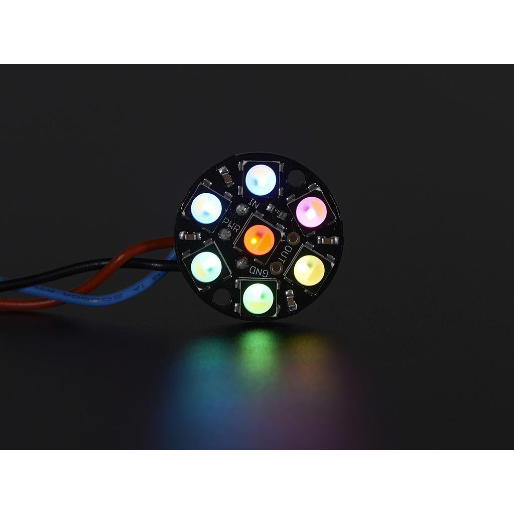 [ADA-2859] NeoPixel Jewel - 7 x 5050 RGBW LED w/ Integrated Drivers - Natural White - ~4500K