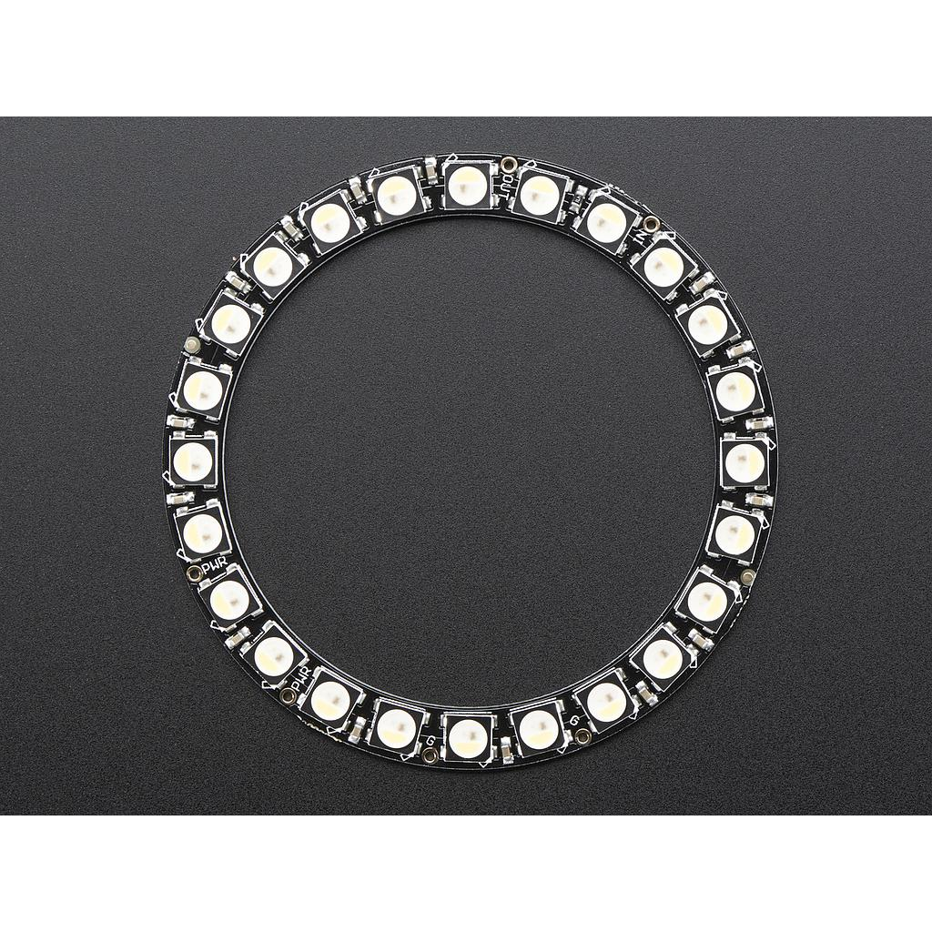 [ADA-2862] NeoPixel Ring - 24 x 5050 RGBW LEDs w/ Integrated Drivers - Natural White - ~4500K