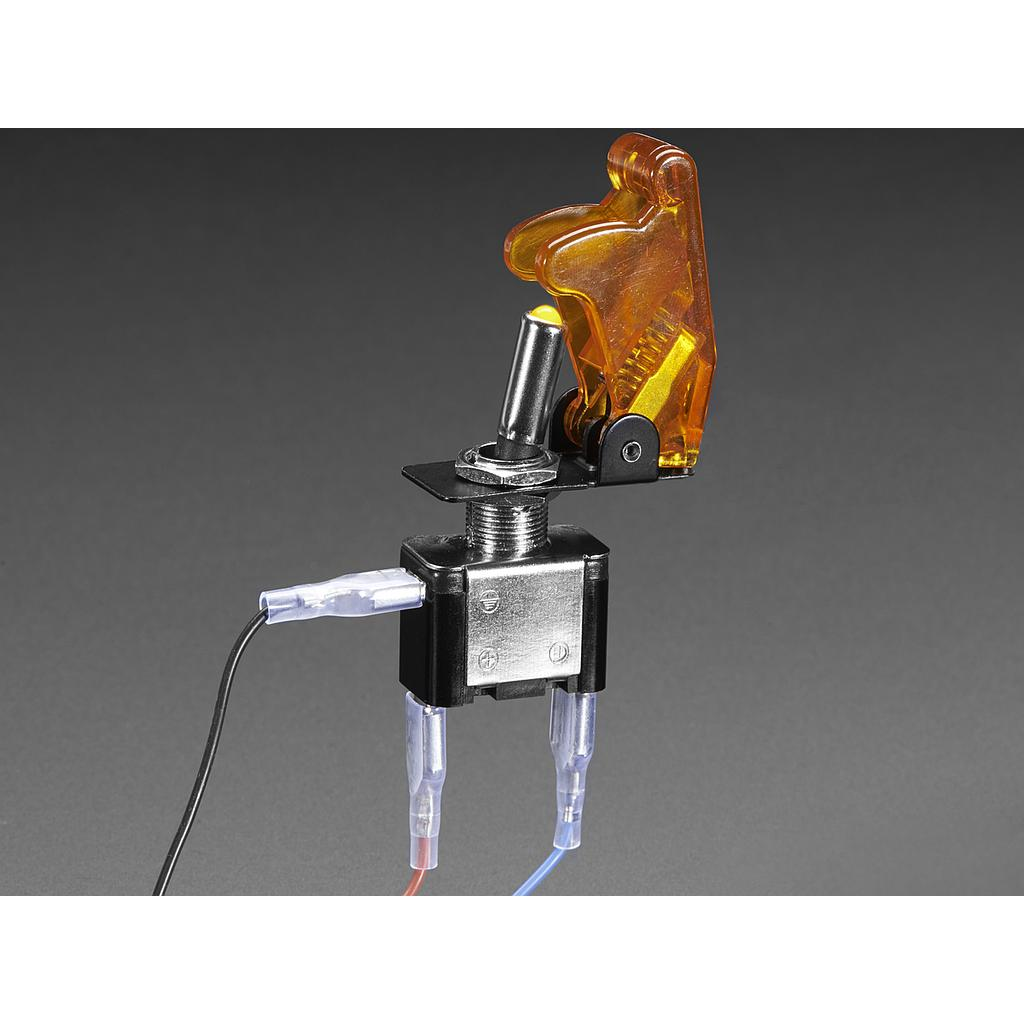 [ADA-3219] Illuminated Toggle Switch with Cover - Yellow