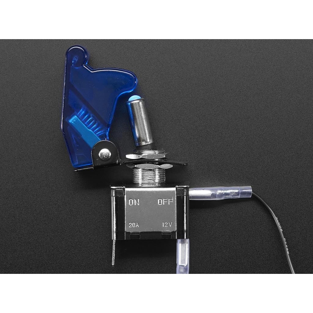 [ADA-3306] Illuminated Toggle Switch with Cover - Blue