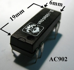 [AC902] Relay Reed 5V/200E SPDT 0.5A 20x9x6mm