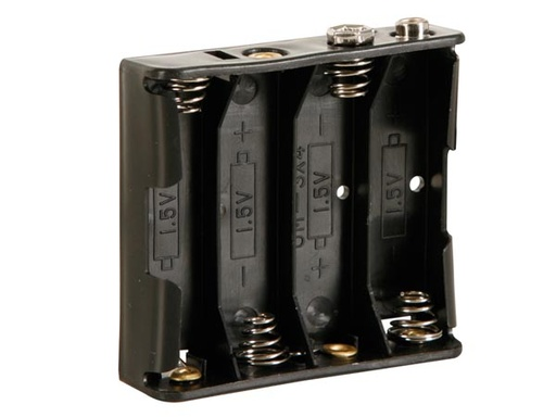 Battery Holder for 4 x AA-Cell (w/ Snap Terminals)