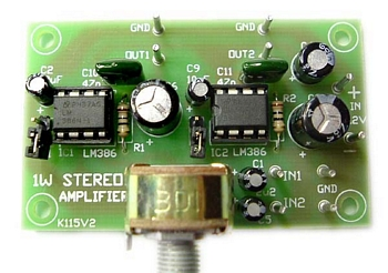 1W Stereo Amplifier Module (Assembled)