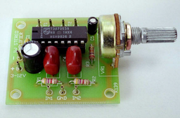 [CPS139] 1W Stereo Amplifier Module with Volume control using the TDA7053A (Kit)