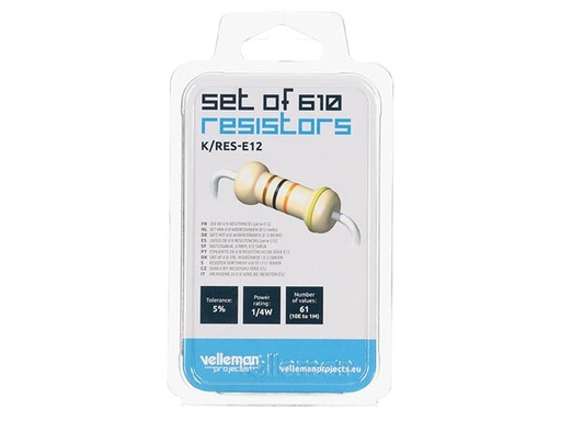 Pack of 610 E12-Series Resistors