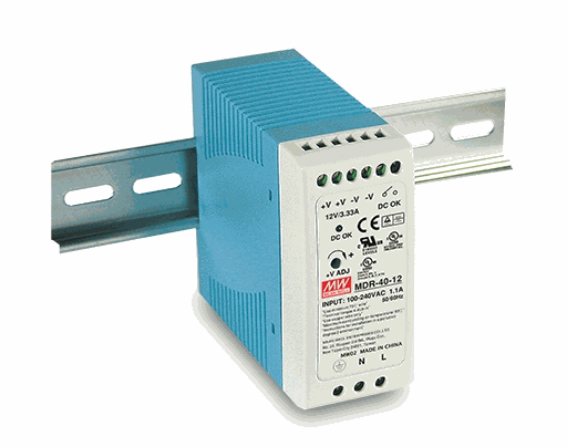 40W Industrial DIN rail Switchmode Supply 12VDC output