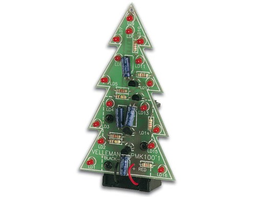 Electronic Christmas Tree with 16 Blinking LEDs (Kit)
