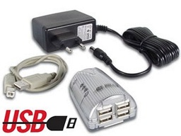 [PCUSB3U] USB 2.0 HUB, 1 x USB-B Female to 4 x USB-A Female