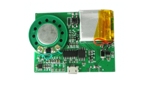 Greeting Card Sound Module Activated by Button