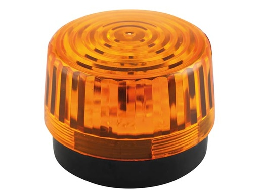 LED Flashing Light - Amber - 12 VDC - 100 mm
