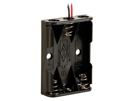 Battery Holder for 3 x AAA-Cell (with Wires)