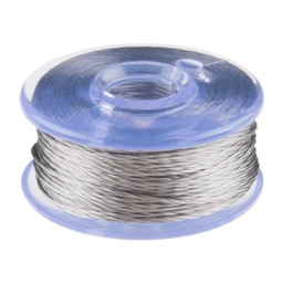 [DEV-13814] Conductive Thread Bobbin - 12m (Smooth, Stainless Steel)